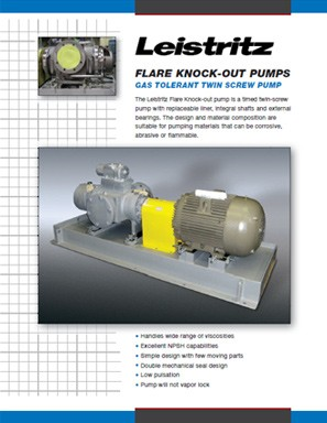 Flare Knock-Out Pumps