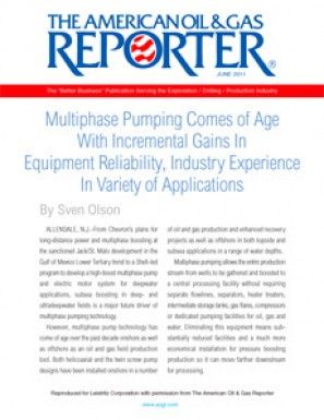 Multiphase Pumping Comes of Age With Incremental Gains In Equipment Reliability, Industry Experience In Variety of Applications (Reprint)