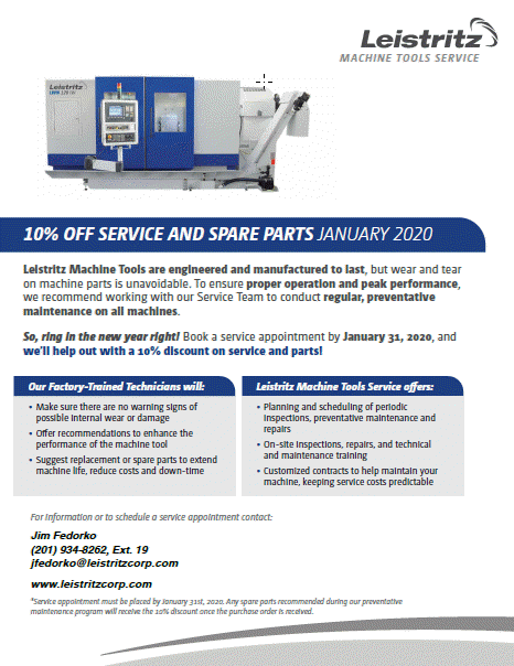 January is Service Maintenance Month